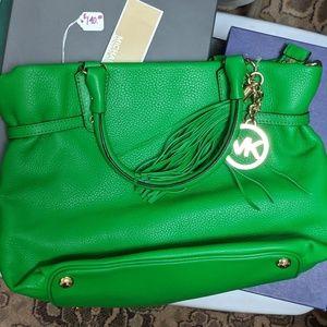 Michael Kors bright green purse
